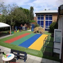 Children's Play Area Surface in Abbots Morton 1