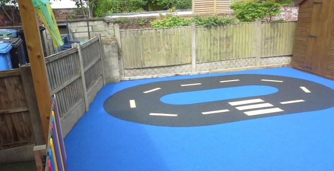 Children's Playground Surface in Abertrinant