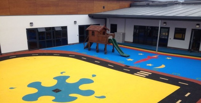 Playground Flooring Specialists in Cimla