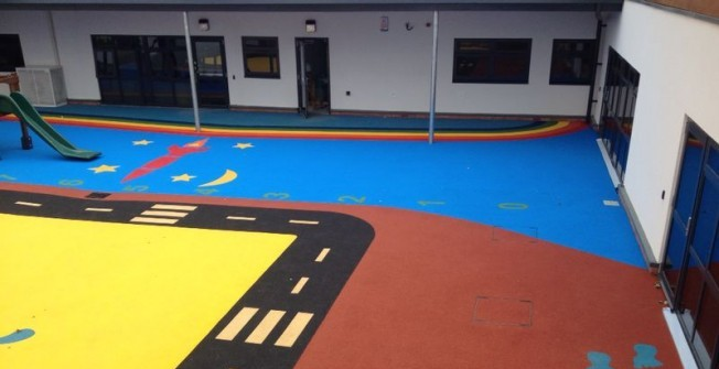 Playground Rubber Flooring in Cornwall