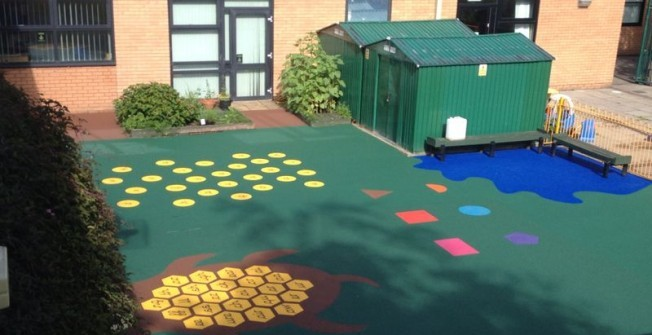 Rubber Playground Designs in Abercynon